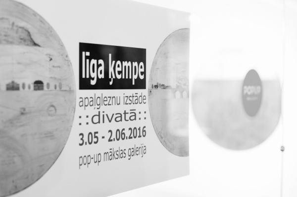 round paintings : pop-up art gallery : rīga : 2016
