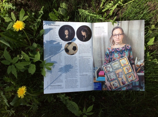 round paintings : magazine ieva : rīga : 2016